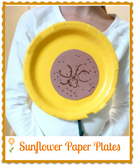 Kid's Craft Project: Sunflower Paper Plate