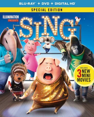 SING Blu-Ray DVD