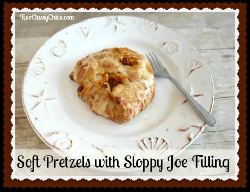 Soft Pretzels with Sloppy Joe Filling Recipe