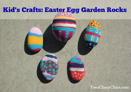 Kid's Craft Project: Easter Egg Garden Rocks