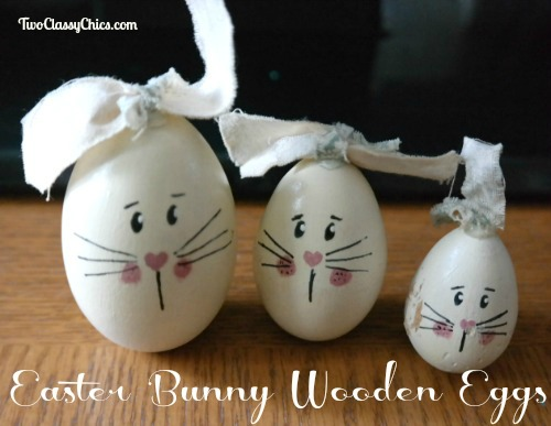 Craft Project – Wood Easter Egg Bunny Family