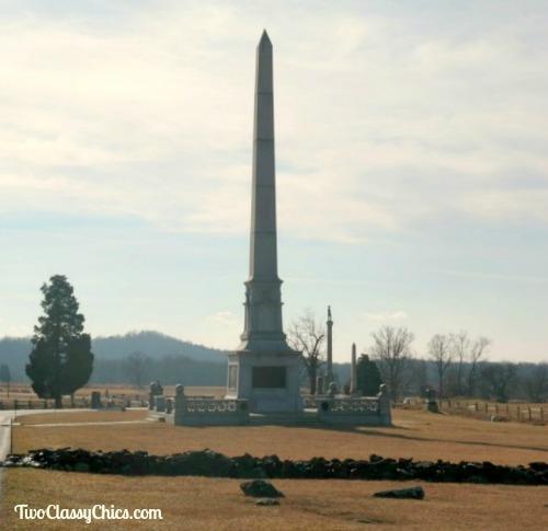 Gettysburg Battlefield Monuments in Pennsylvania