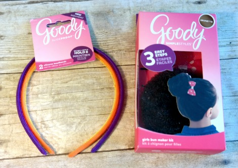 Goody Silicone Headbands and the Goody Girl's Bun Maker Kit