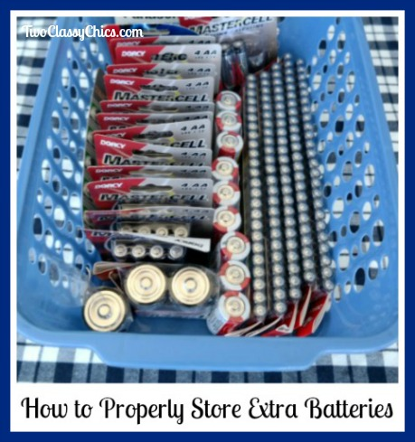 How to Properly Store Extra Batteries