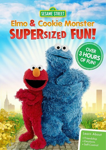 Sesame Street Elmo and Cookie Monster Supersized Fun DVD