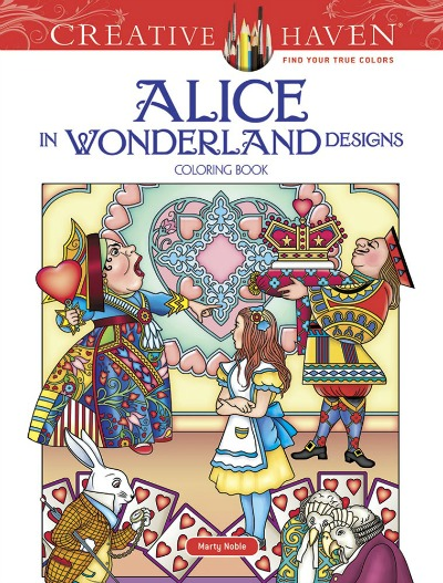 Alice in Wonderland Designs Adult Coloring Book