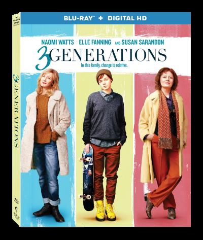 Movie Review: 3 Generations – Starring Naomi Watts and Susan Sarandon