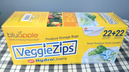 Prolong Freshness with Bluapple VeggieZips Produce Storage Bags