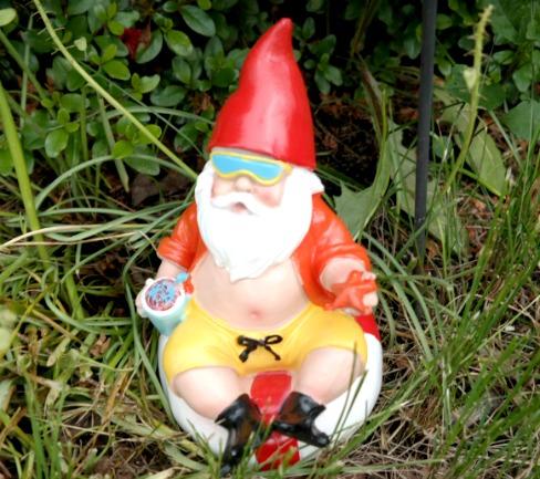 beach-theme'd garden gnome