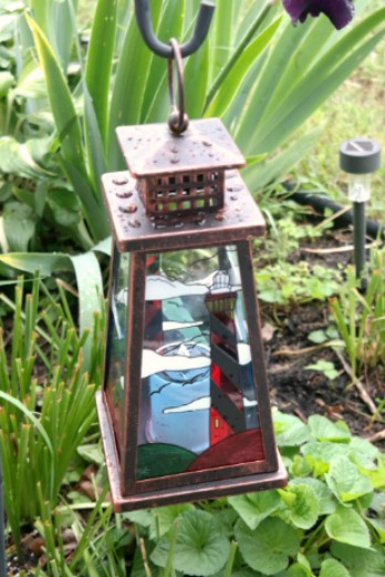 Hanging Solar Lantern in Lighthouse Coastal Design