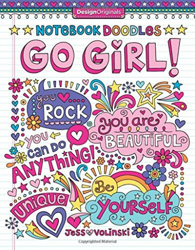 Notebook Doodles Go Girl! Coloring and Activity Book