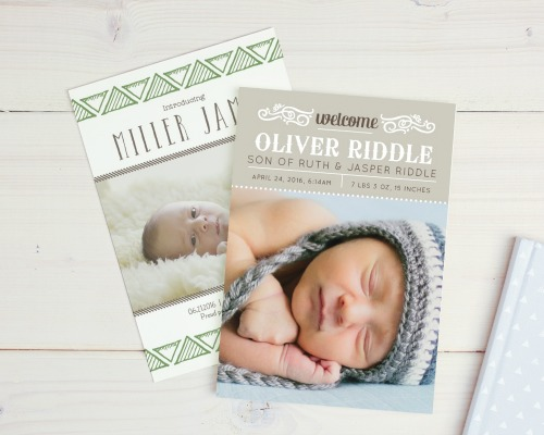 Birth Announcement from Basic Invite