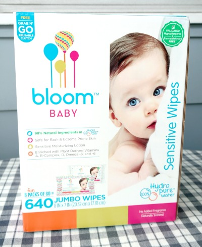 bloom BABY Sensitive Wipes – Made with 98% Natural Ingredients