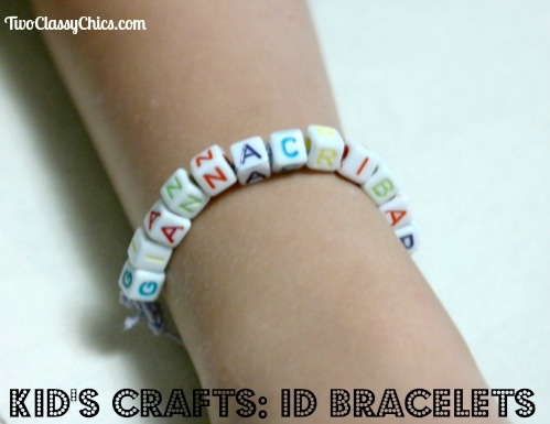 Kid's Craft Project: Beaded ID Name Bracelets