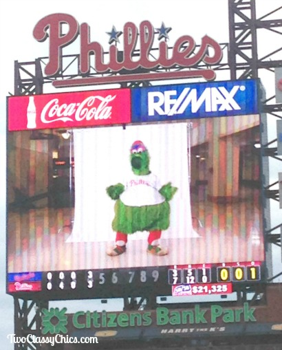 Philly Phanatic at Phillies Baseball Game