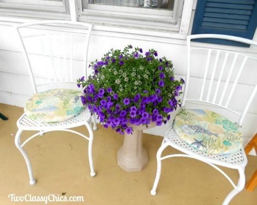 Birdbath Patio Table and Flower Planter