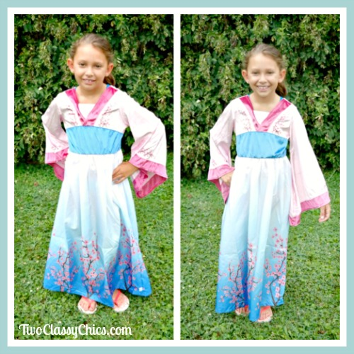 Asian Princess Dress Costume for Little Girls