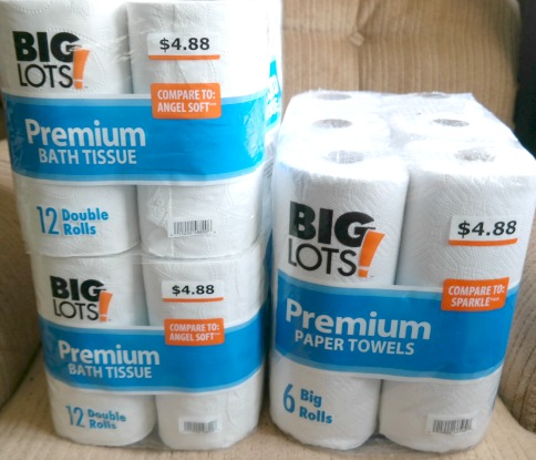 Big Lots Toilet Tissue & Paper Towels Deals