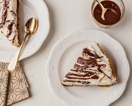 Chocolate and Tahini Ice Box Pie Recipe