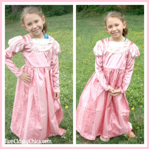 Coral Renaissance Princess Costume Dress for Girls