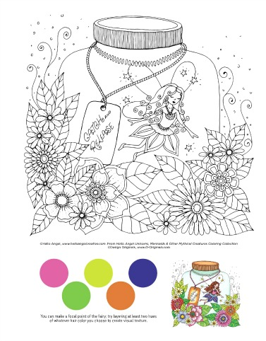 Unicorns, Mermaids and Other Mythical Creatures Coloring Collection Book
