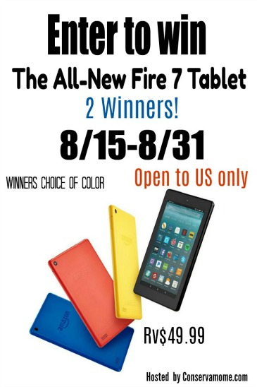 The All-New Amazon Fire 7 Tablet Giveaway!!!