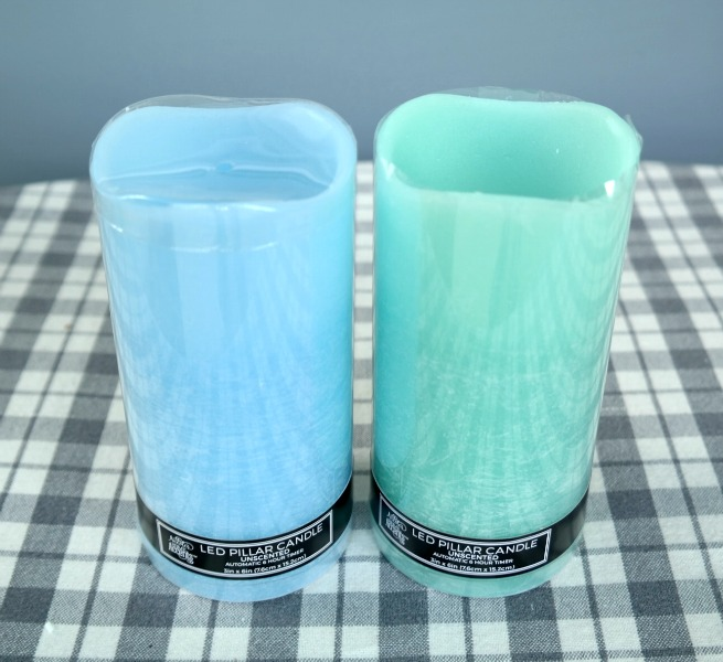 Coastal Flameless Pillar Candles with Timers