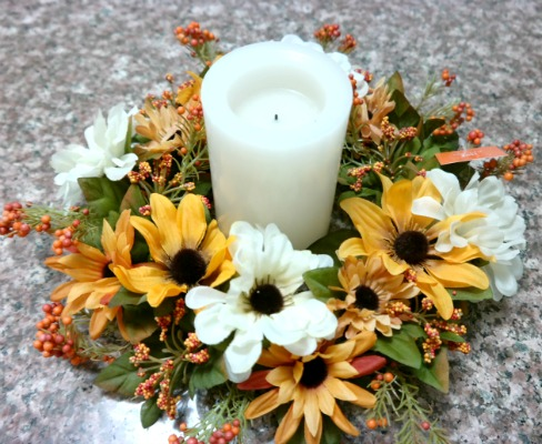 Autumn and Fall Silk Candle Rings & Pillar Candles