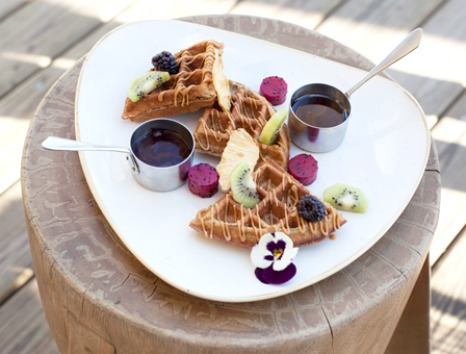 Chef Angel Leon Buttermilk Power Waffles Recipe