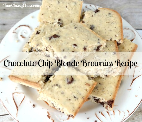 Chocolate Chip Blonde Brownies Recipe