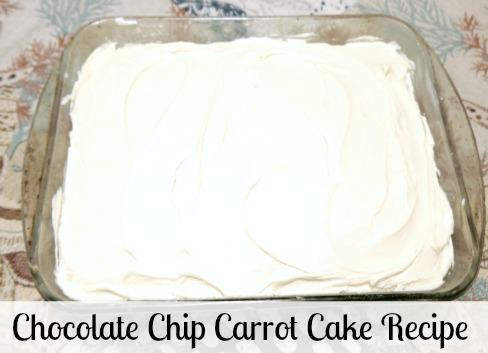 Chocolate Chip Carrot Cake Recipe