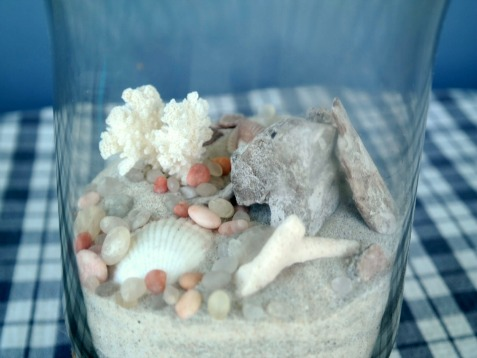 Craft Project - DIY Seascape with Seashells in Glass Vase