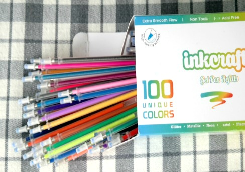 Adult Coloring – Save Money with InkCraft 100 Gel Pens Refill Kit