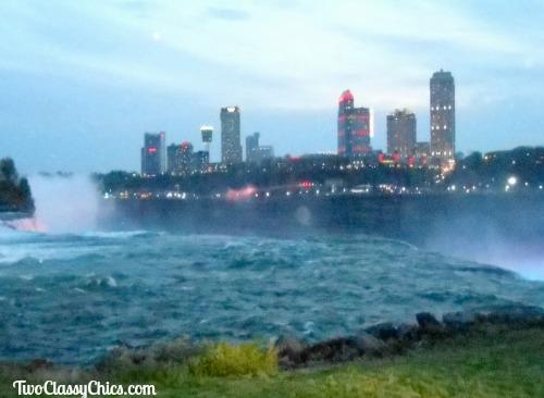 city lights of Niagara Falls Canada