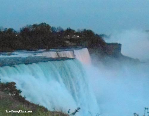 Niagara Falls in New York at Night
