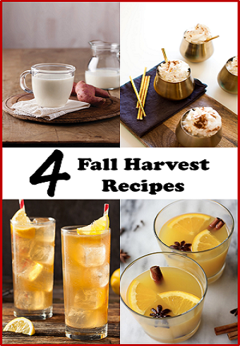 4 Fall Harvest Cocktails and Latte Recipes