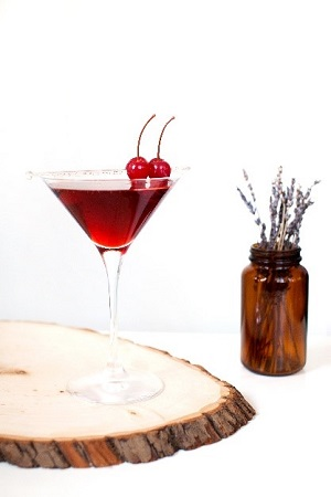 Black Cherry and Minty Peach Cocktail Recipes
