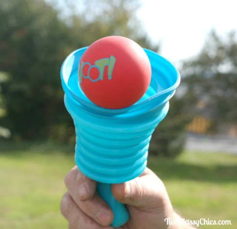 Hoot! A Scoop and Ball Toss Outdoor Game by SeaTurtle Sports