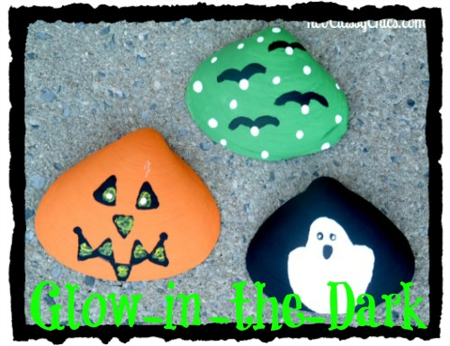 Halloween Craft Project Glow-in-the-Dark Painted Seashells