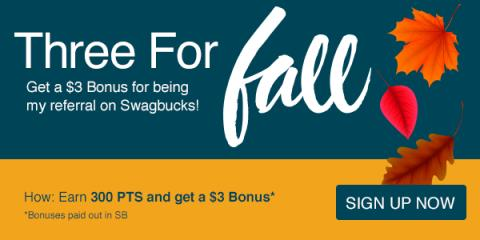 Get $3 When You Sign Up for Swagbucks During October