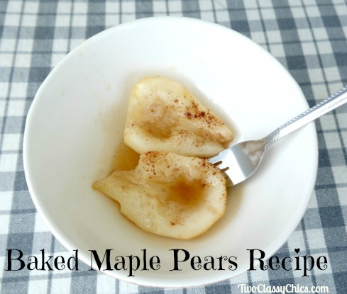 Baked Maple Pears Recipe