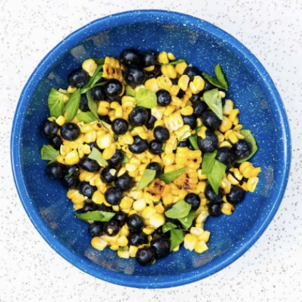 Sauteed Corn and Blueberry Salad Recipe
