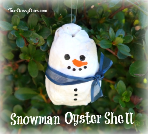 Craft Project Oyster Shell Snowman Ornaments