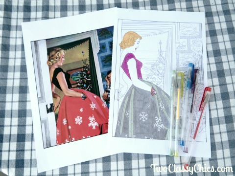 The Saturday Evening Post Christmas Treasury Prints and Coloring Book