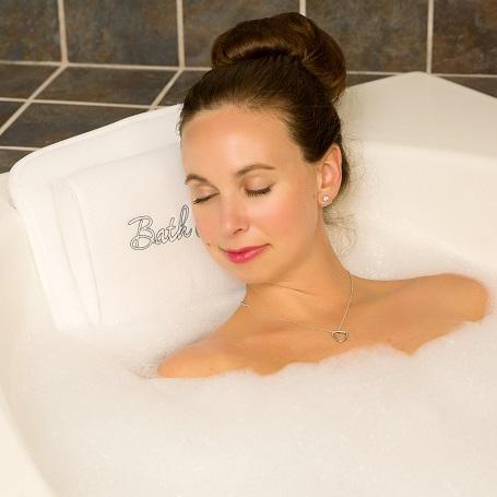 Bath Haven Quilted Air Luxury Escape Bath Pillow