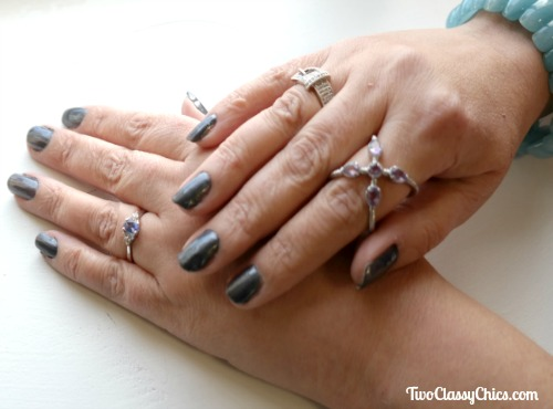 Holiday Glam in Grey with Sally Hansen Nail Colors