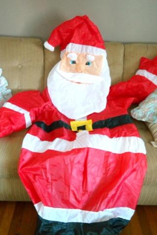 6 foot tall inflatable Santa Claus