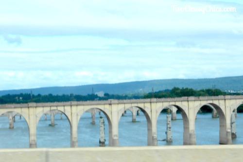 John Harris Bridge and Susquehanna River in Pennsylvania