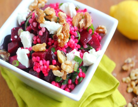 Couscous Salad with Beets, Goat Cheese, and Walnuts Recipe