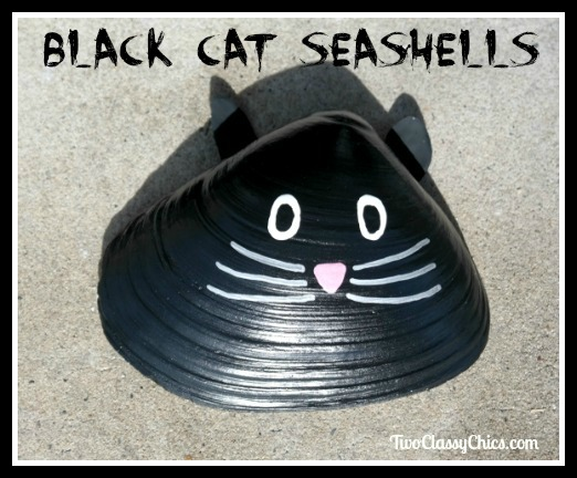 Kid's Craft Project - Painted Kitty Cat Seashells